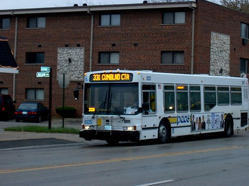 Eastbound Pace bus on Grand Avenue. River Grove Illinois. November 2006. by Eddie from Chicago