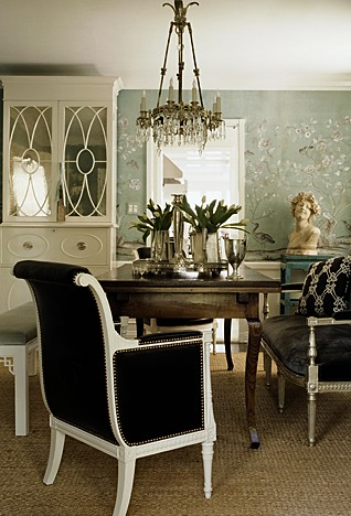 Modern Bungalow: Asian Wallpaper + Brown + White Dining Room By Windsor  Smith Part 58