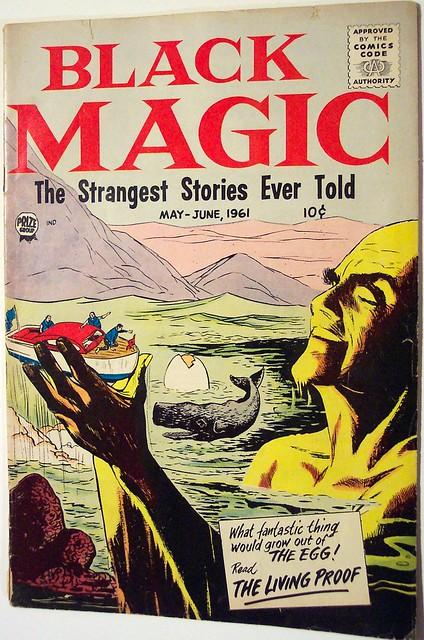 Vintage comic book black magic v8 2 1961 2 2