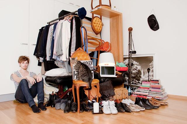 benjamin with all his belongings