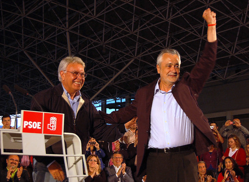 Griñán en Jaén con Felipe González y Carmen Peñalver