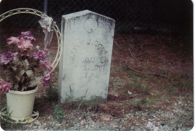 William Jasper Downey - CSA Marker / Grave