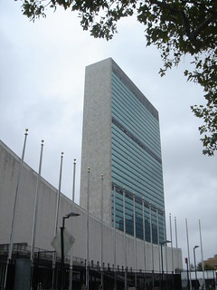 Image of United Nations Headquarters near Long Island City. newyorkcity unitednations usa2005