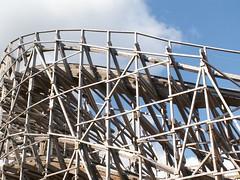 roller coaster, amusement park,