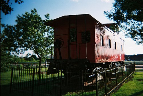 Retired caboose from the Chicago, Rock Island & Pacific Railroad. Tinley Park Illinois. June 2008. by Eddie from Chicago