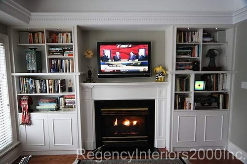 built in bookcase fireplace surround explore regency