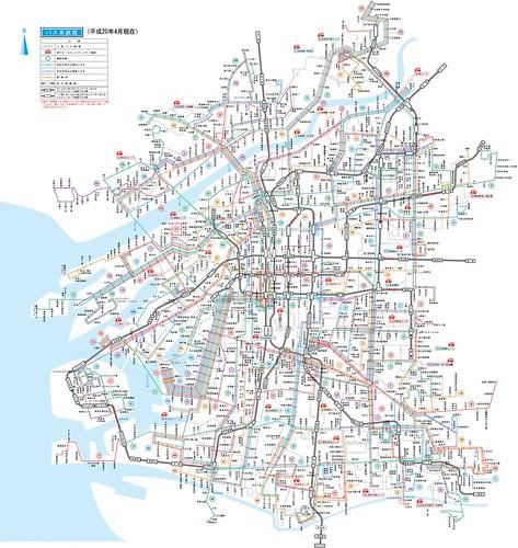 大阪市営バス路線図