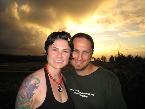 kauai, sunset, happy couple, sean, rachel, tattoo IMG_5543