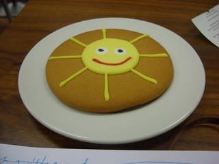 happy sun cookie