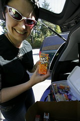 soccer mom, filling up a cooler full of juice boxes …
