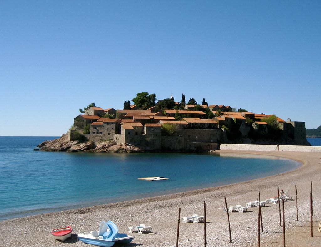 Sveti Stefan пляж