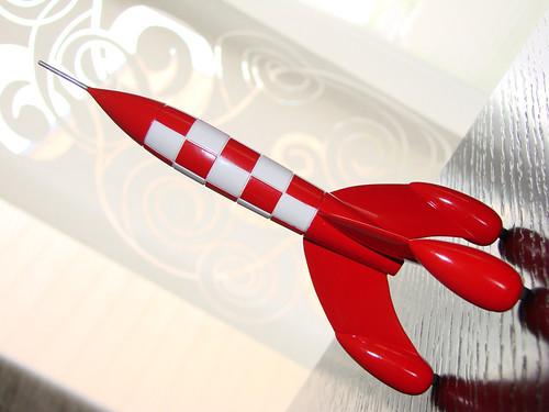 Fusée Tintin avec flash