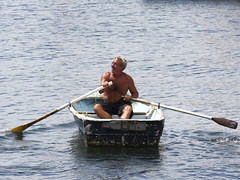 water, vehicle, sea, skiff, watercraft rowing, boating, boat, paddle,