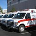 AMR (American Medical Response)  Paramedic Units in a Row