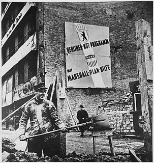 West Berlin, Germany. Marshall Plan aid to Germany totaled $1,390,600 and enabled that country to rise from the ashes of defeat, 06/05/1948