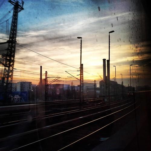 Tramonti dal treno