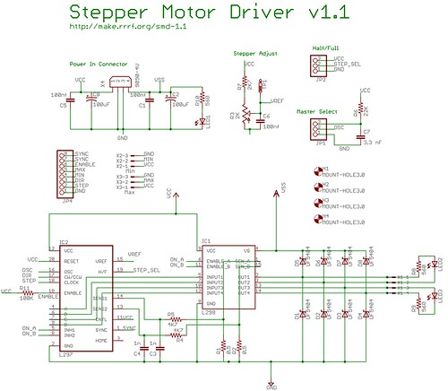 Photo Step motor driver circuit