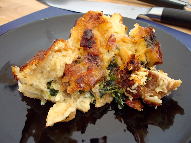 Savory Bread Pudding with Gruyere, Bacon, Onion, and Nettles | Flickr ...