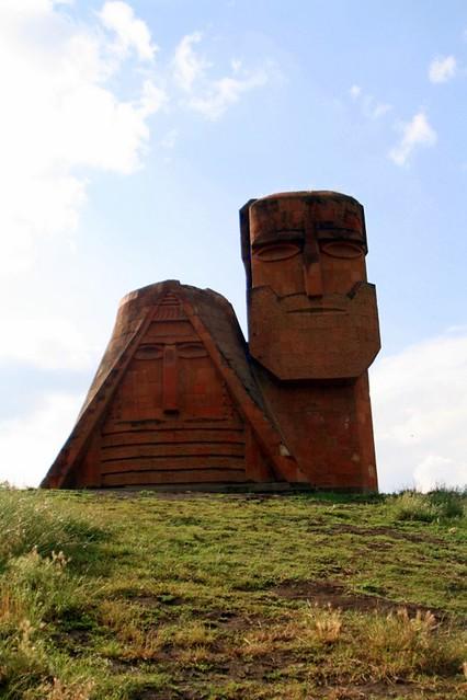 'Grandmother and Grandfather', Karabakh national monument