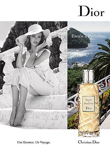 "Today is all about fragrances: DIOR ""Escale a Portofino"" / Mona Johannesson"