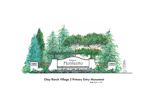 Village of Montecito Entry Sign