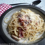 Chicken spaghetti carbonara