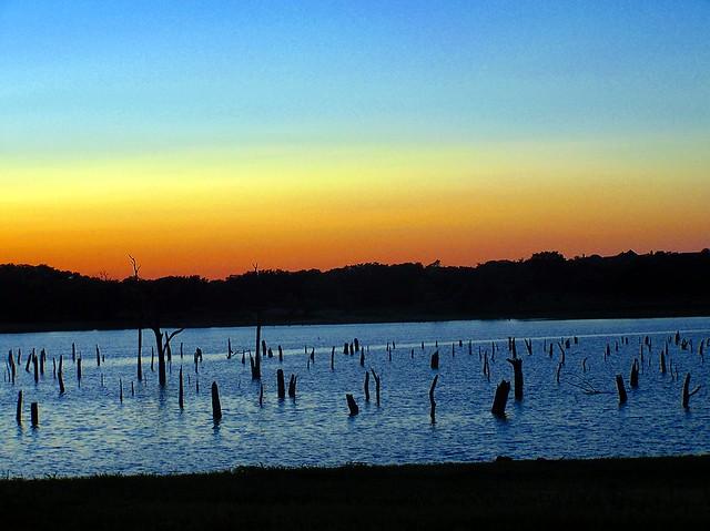 Sunrise over benbrook lake flickr photo sharing for Benbrook lake fishing