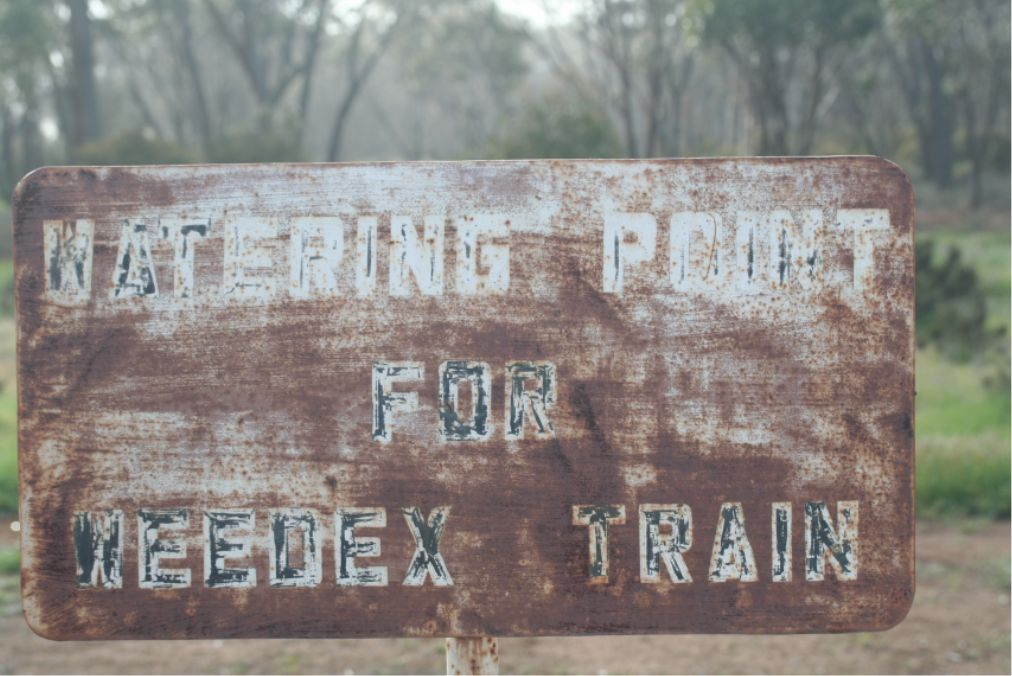 Kondinin - Weedex Train Watering Point sign by 1213Driver