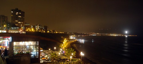 sea panorama costa tourism beach peru night noche coast mar lima playa panoramic panoramica turismo miraflores costaverde morrosolar