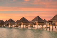 [Free Images] Architecture, Institution, Sunrise / Sunset, Bora Bora ID:201204021600