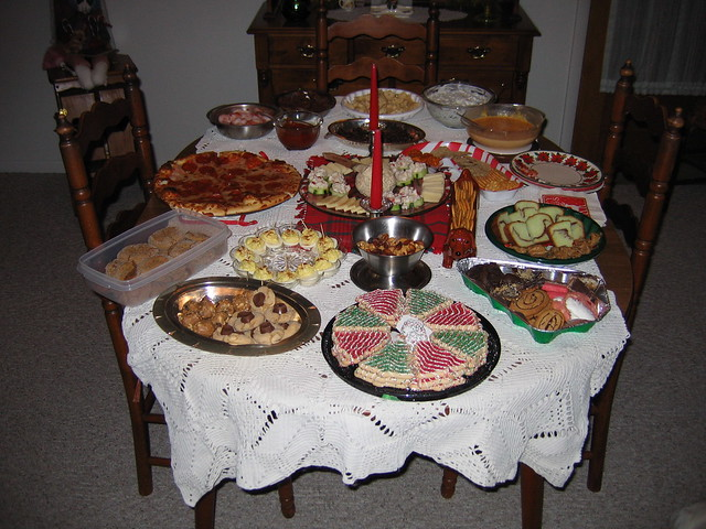 Our christmas eve feast of snacks and sweets explore for Christmas eve food ideas uk