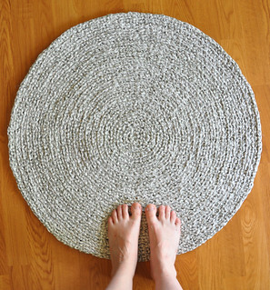 Sage Grass Green Crochet rug