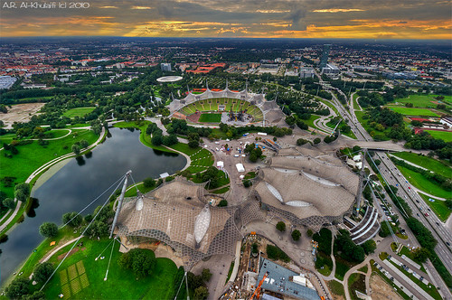 The Olympic Village in Munich, Germany