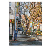 NYC East Village Corner Print 8x10 Painting earth tones rustic by Gwen Meyerson by GwenMeyerson http://ift.tt/1g8pDX6 by IM Team