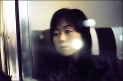 Improved Girl Reflection on Train