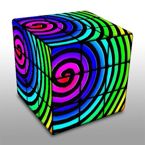 Pop art cube