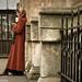 Woman in red by René Ehrhardt