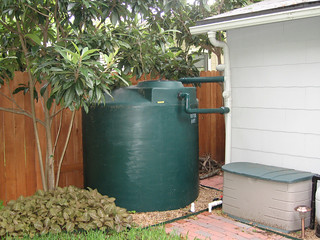 Rain water collection system - 1000 gallon poly - irrigation