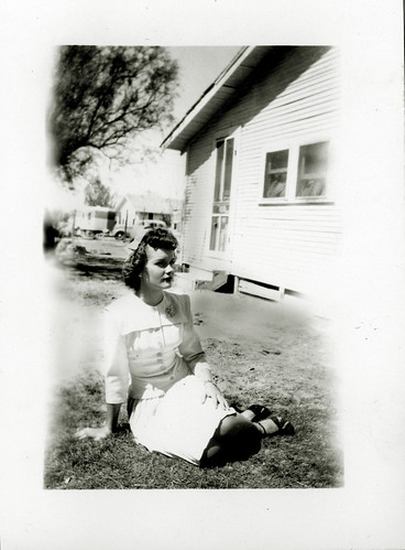 Gloria on the grass