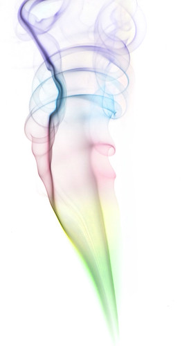 Inverted and coloured smoke swirl