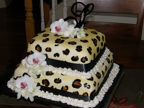 50th Birthday Cakes For Women Leopard Cake