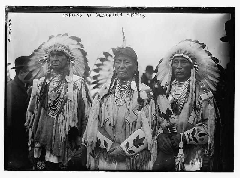 Indians at dedication  (LOC)
