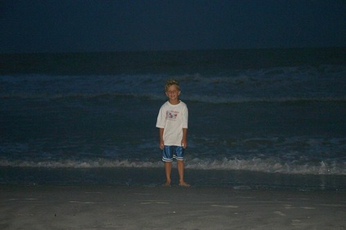 Black on the beach