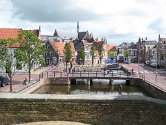 View from gate in Sneek (Friesland Netherlands)