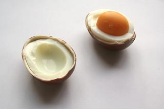 Unexpected Food V.1: Kinder Surprise (Kinderegg) and Hard Boiled Egg