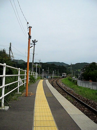 Train Arriving at Shonai Station