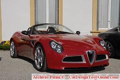 family car(0.0), automobile(1.0), alfa romeo(1.0), executive car(1.0), vehicle(1.0), automotive design(1.0), alfa romeo 8c(1.0), alfa romeo 8c competizione(1.0), land vehicle(1.0), supercar(1.0), sports car(1.0),