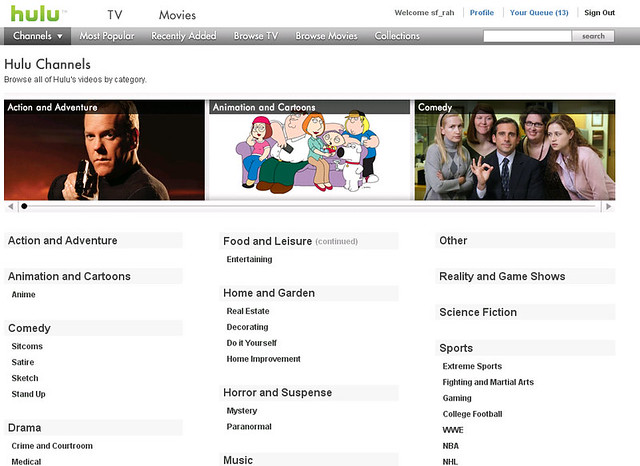 Hulu+Channels Hulu Channels Page | Flickr - Photo Sharing!