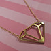 Single Diamond Necklace by FatallyFeminine