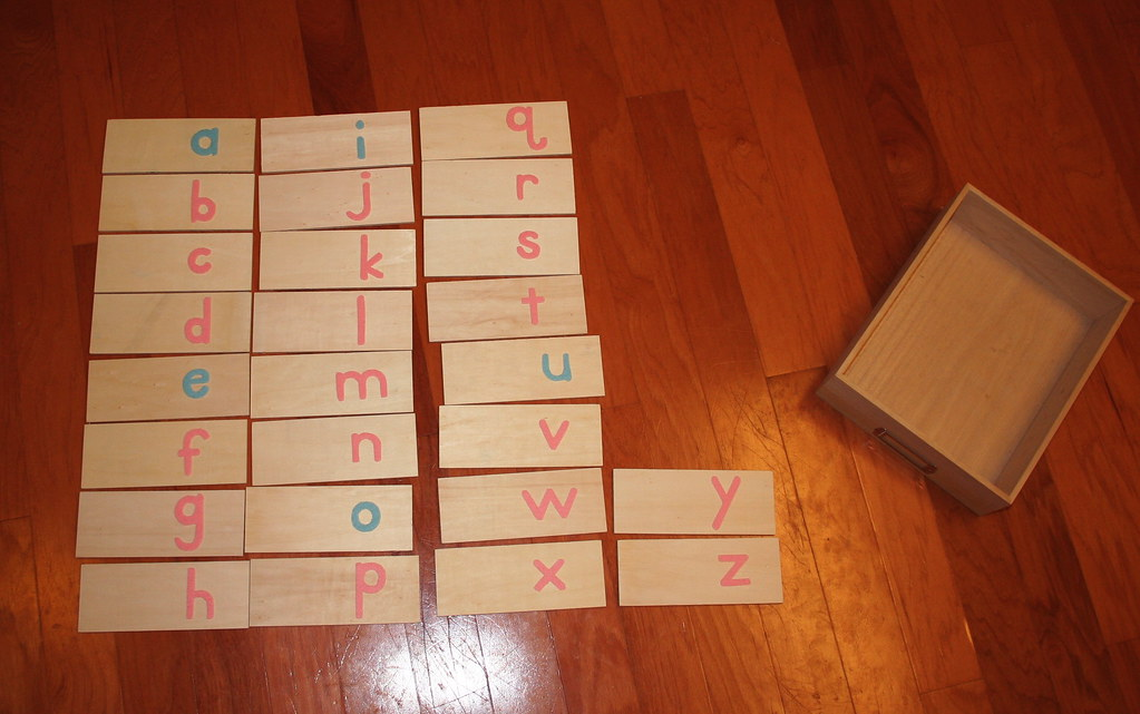 "Mommy made ""sandpaper"" letters"